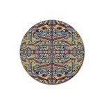 Multicolor Abstract Rubber Coaster (Round)