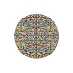 Multicolor Abstract Magnet 3  (Round)