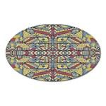 Multicolor Abstract Oval Magnet