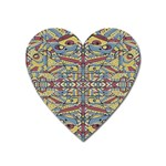 Multicolor Abstract Heart Magnet