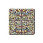 Multicolor Abstract Square Magnet