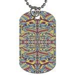 Multicolor Abstract Dog Tag (One Side)