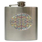 Multicolor Abstract Hip Flask (6 oz)