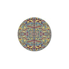Multicolor Abstract Golf Ball Marker by dflcprintsclothing