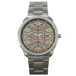 Multicolor Abstract Sport Metal Watch
