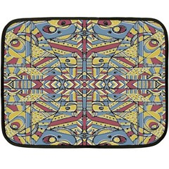 Multicolor Abstract Fleece Blanket (mini)