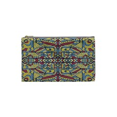 Multicolor Abstract Cosmetic Bag (small)  by dflcprintsclothing