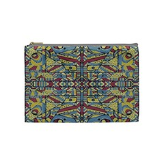 Multicolor Abstract Cosmetic Bag (medium)