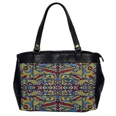 Multicolor Abstract Office Handbags