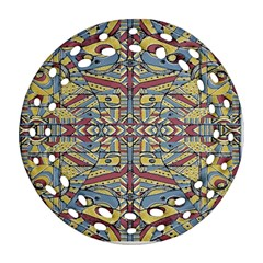 Multicolor Abstract Round Filigree Ornament (2side)