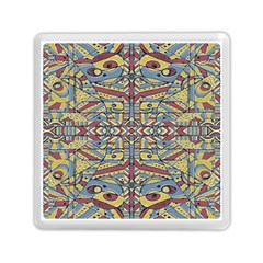 Multicolor Abstract Memory Card Reader (square)