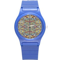Multicolor Abstract Round Plastic Sport Watch (s) by dflcprintsclothing