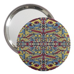 Multicolor Abstract 3  Handbag Mirrors