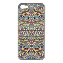Multicolor Abstract Apple Iphone 5 Case (silver)