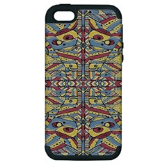 Multicolor Abstract Apple Iphone 5 Hardshell Case (pc+silicone)