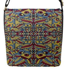 Multicolor Abstract Flap Messenger Bag (s)