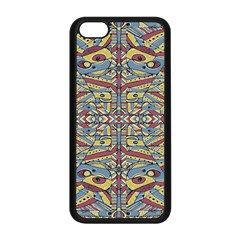 Multicolor Abstract Apple Iphone 5c Seamless Case (black) by dflcprintsclothing