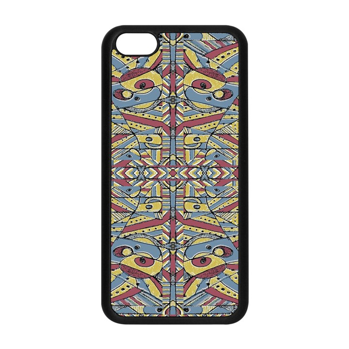 Multicolor Abstract Apple iPhone 5C Seamless Case (Black)