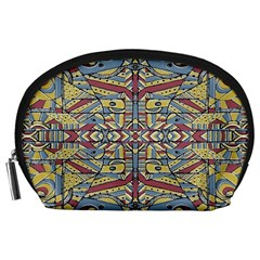 Multicolor Abstract Accessory Pouches (large)  by dflcprintsclothing