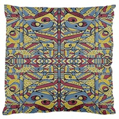 Multicolor Abstract Large Flano Cushion Case (one Side)