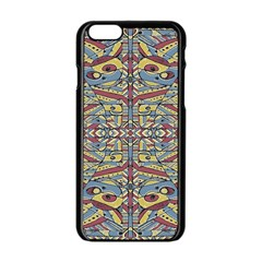 Multicolor Abstract Apple Iphone 6/6s Black Enamel Case by dflcprintsclothing