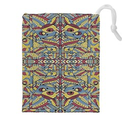 Multicolor Abstract Drawstring Pouches (xxl)