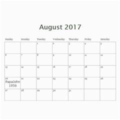 2017calendar By Sandra L Johnson   Wall Calendar 11  X 8 5  (12 Months)   Laos7hnbxp1z   Www Artscow Com Aug 2017