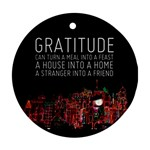 GratitudeNight - Ornament (Round)