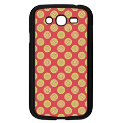 Mod Yellow Circles On Orange Samsung Galaxy Grand Duos I9082 Case (black) by BrightVibesDesign