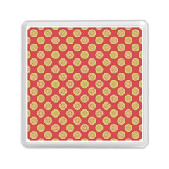 Mod Yellow Circles On Orange Memory Card Reader (square)  by BrightVibesDesign