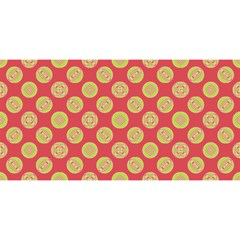 Mod Yellow Circles On Orange You Are Invited 3d Greeting Card (8x4) by BrightVibesDesign
