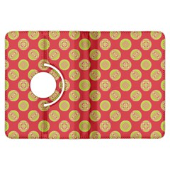 Mod Yellow Circles On Orange Kindle Fire Hdx Flip 360 Case by BrightVibesDesign