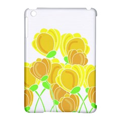 Yellow flowers Apple iPad Mini Hardshell Case (Compatible with Smart Cover) by Valentinaart