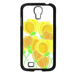 Yellow Flowers Samsung Galaxy S4 I9500/ I9505 Case (black) by Valentinaart