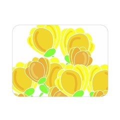 Yellow Flowers Double Sided Flano Blanket (mini)  by Valentinaart