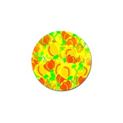 Yellow Garden Golf Ball Marker (10 Pack) by Valentinaart