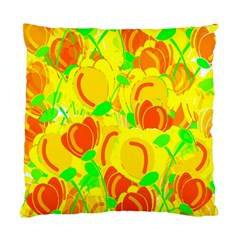 Yellow Garden Standard Cushion Case (one Side) by Valentinaart