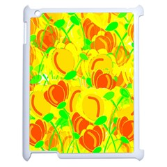 Yellow Garden Apple Ipad 2 Case (white) by Valentinaart