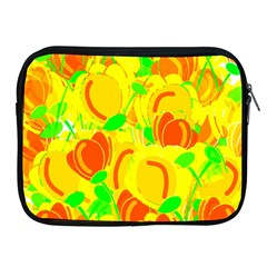 Yellow Garden Apple Ipad 2/3/4 Zipper Cases by Valentinaart
