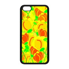 Yellow Garden Apple Iphone 5c Seamless Case (black) by Valentinaart