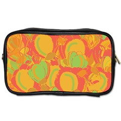 Orange Garden Toiletries Bags 2 Side by Valentinaart