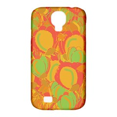 Orange Garden Samsung Galaxy S4 Classic Hardshell Case (pc+silicone) by Valentinaart