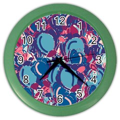 Blue Garden Color Wall Clocks by Valentinaart
