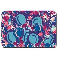Blue Garden Large Doormat  by Valentinaart