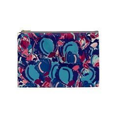 Blue Garden Cosmetic Bag (medium)  by Valentinaart
