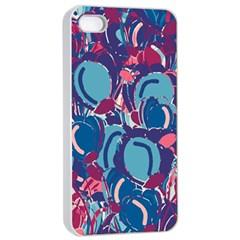 Blue Garden Apple Iphone 4/4s Seamless Case (white) by Valentinaart