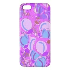 Pink Garden Apple Iphone 5 Premium Hardshell Case by Valentinaart