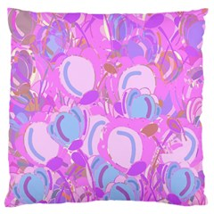 Pink Garden Large Flano Cushion Case (one Side) by Valentinaart