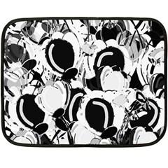 Black And White Garden Double Sided Fleece Blanket (mini)  by Valentinaart