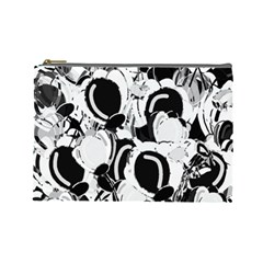 Black And White Garden Cosmetic Bag (large)  by Valentinaart